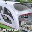 Straddling bus : transport public chinois futuriste