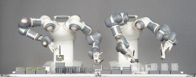 Chaine de montage avec robot Frida