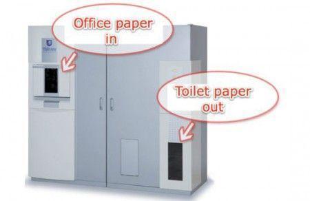machine pour le recyclage de papier en rouleaux de pq. Black Bedroom Furniture Sets. Home Design Ideas