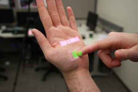 Paume de main tactile