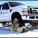 Track N Go : Remplacer les pneus neige par des chenilles sur une voiture